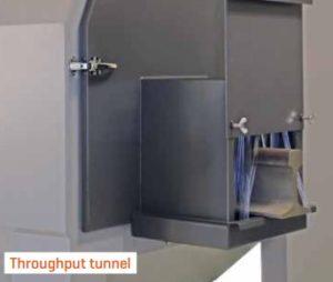 Tunnel i dør for gjennomføringer.